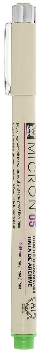 Ручка капиллярная Sakura Pigma Micron, 0.45 мм, цвет чернил: салатовыйXSDK05#32Капиллярные ручкиPigma Micron - это поистине самые популярные ручки, которые используют художники иллюстраторы, дизайнеры и архитекторы по всему миру. Именно Sakura впервые разработала и запатентовала знаменитые архивные чернила Pigma Ink - архивные и светостойкие чернила на пигментной основе высокой степени стойкости без кислот. Такие чернила делают эти ручки идеальным инструментом для аккуратных и точных работ. Чернила быстро сохнут, не смазываются и не растекаются даже на тонкой бумаге. Все ручки Pigma имеют маркировку AP (Approved Product) института ACMI, что означает отсутствие в составе чернил вредных веществ.
