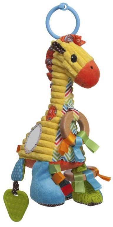 Игрушка-подвеска Infantino Веселый жираф мягкая игрушка infantino милый львенок