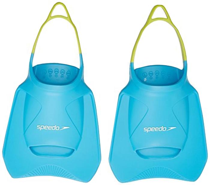 Ласты Speedo Fitness Fin, цвет: голубой, салатовый. Размер S (46/48) ласты для тренировок speedo biofuse fin красный черный 11 12