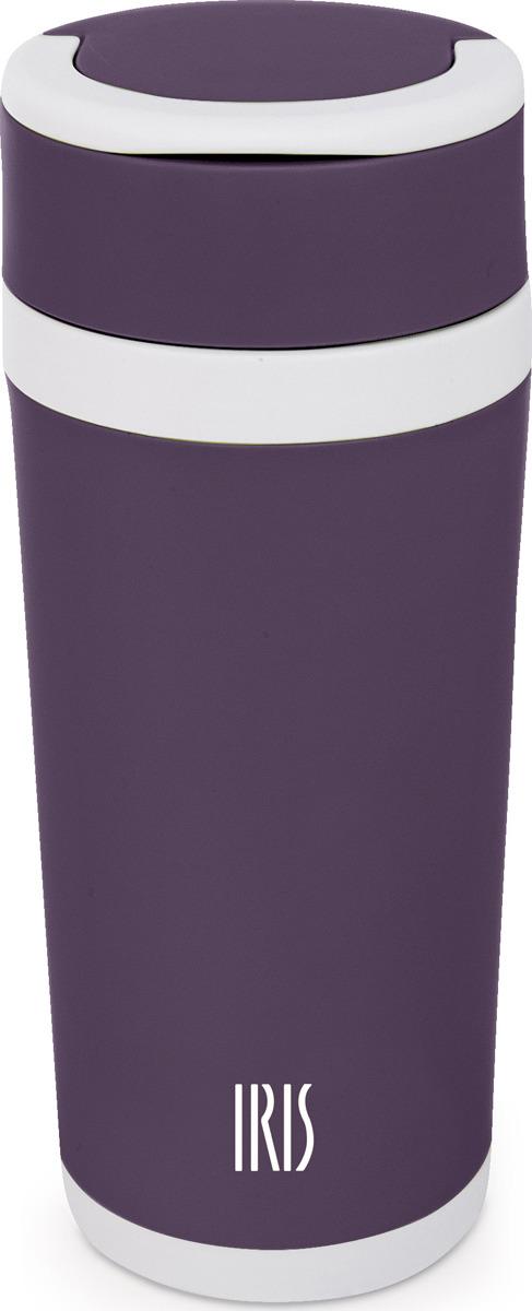 Фляжка Iris, цвет: фиолетовый, 450 млI8206-VLУдобная и практичная фляжка-бутылка от IRIS изготовленная из термостойкого боросиликатного стекла в корпусе из пищевого пластика повышенной прочности, с герметичной винтовой крышкой с силиконовым уплотнителем. В крышку встроена изящная ручка для переноски. Стекло - экологически чистый материал, который не впитывает запахи и вкусы, поэтому Вы можете наливать в эту фляжку абсолютно любой напиток, и он сохранит свои вкусовые качества и аромат. В стеклянную посуду можно наливать кофе с молоком, чего нельзя сказать про кружки из нержавейки, например, в которых молочные напитки приобретают не очень приятный привкус и быстро прокисают. Также можно наливать бульоны, соки, морсы и любые напитки с повышенной кислотностью. Пластиковый внешний корпус бутылки сохраняет тепло напитка примерно около часа-полутора. Если Вы перед выходом из дома налили себе горячий напиток, то сможете им наслаждаться по пути от дома до работы. Напитки в этой бутылке можно разогревать в микроволновой печи. Бутылку можно мыть в посудомоечной машине. В комплект входит сетчатый фильтр, который можно не доставать во время питья.