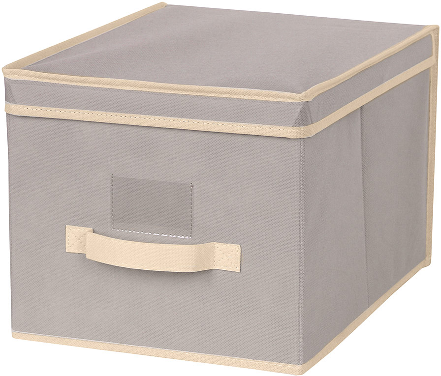 Короб для хранения Handy Home, цвет: бежевый, 30 x 40 x 25 см короб для xранения обуви miolla 52 x 30 x 11 см