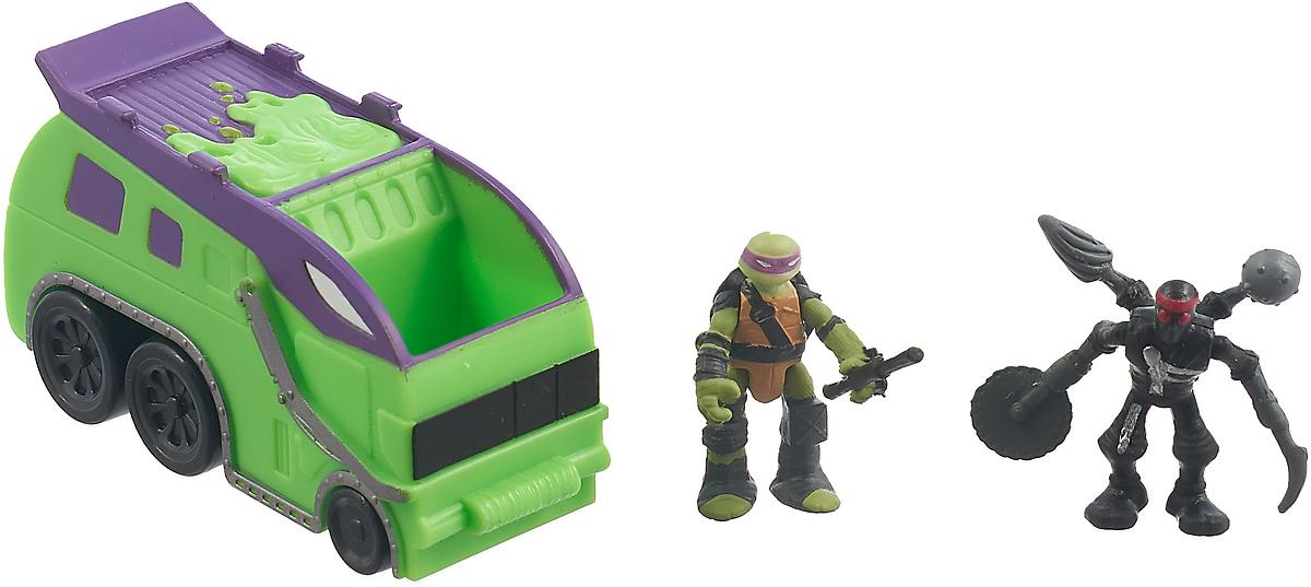 Черепашки Ниндзя боевой локомотив с фигурками Лео и Шредера 87603 игровые фигурки turtles машинка черепашки ниндзя 7 см лео на вездеходе