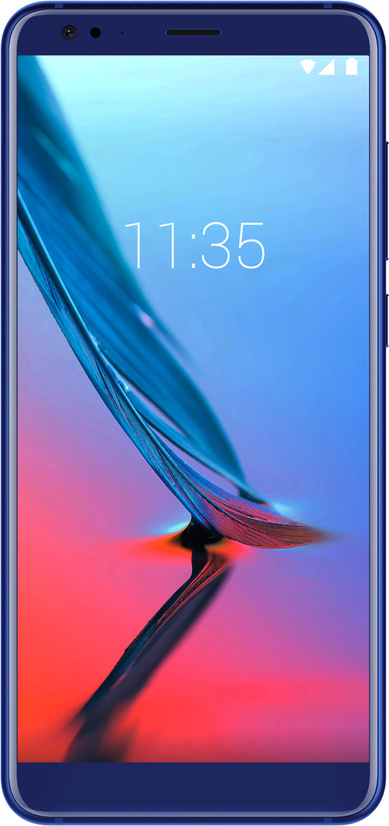 Смартфон ZTE Blade V9 4/64GB, синий смартфон zte blade a 476 чёрный