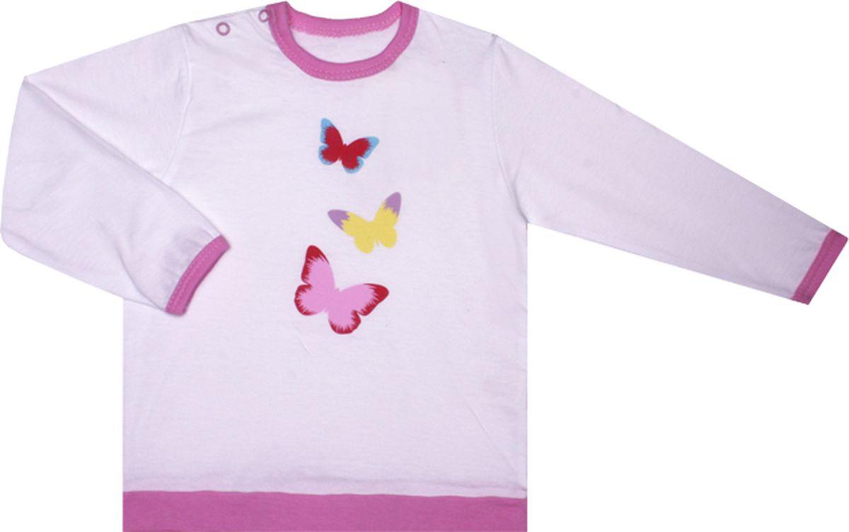 Кофта КотМарКот Бабочки кофта для девочки котмаркот ладошки цвет розовый белый 7195р размер 62