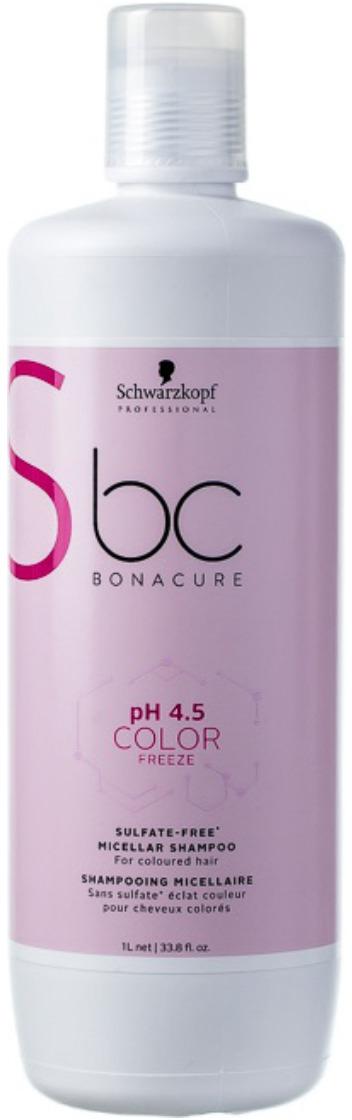 Шампунь для волос мицеллярный бессульфатный Schwarzkopf Professional Bonacure Color Freeze pH4.5, 1 л шампуни с высоким ph