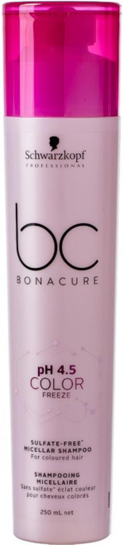 Шампунь для волос мицеллярный бессульфатный Schwarzkopf Professional Bonacure Color Freeze pH4.5, 250 мл шампуни с высоким ph