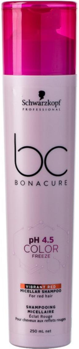 Шампунь для волос красный Schwarzkopf Professional Bonacure Color Freeze pH4.5, 250 мл шампунь bonacure color freeze купить