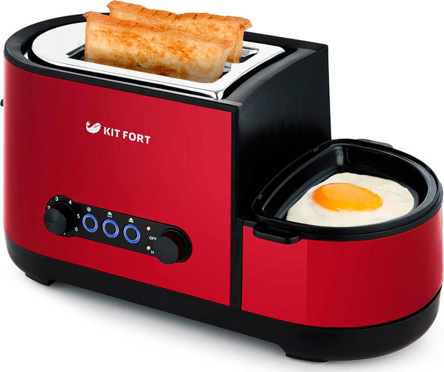 цена Тостер Kitfort КТ-2012-2, цвет: красный