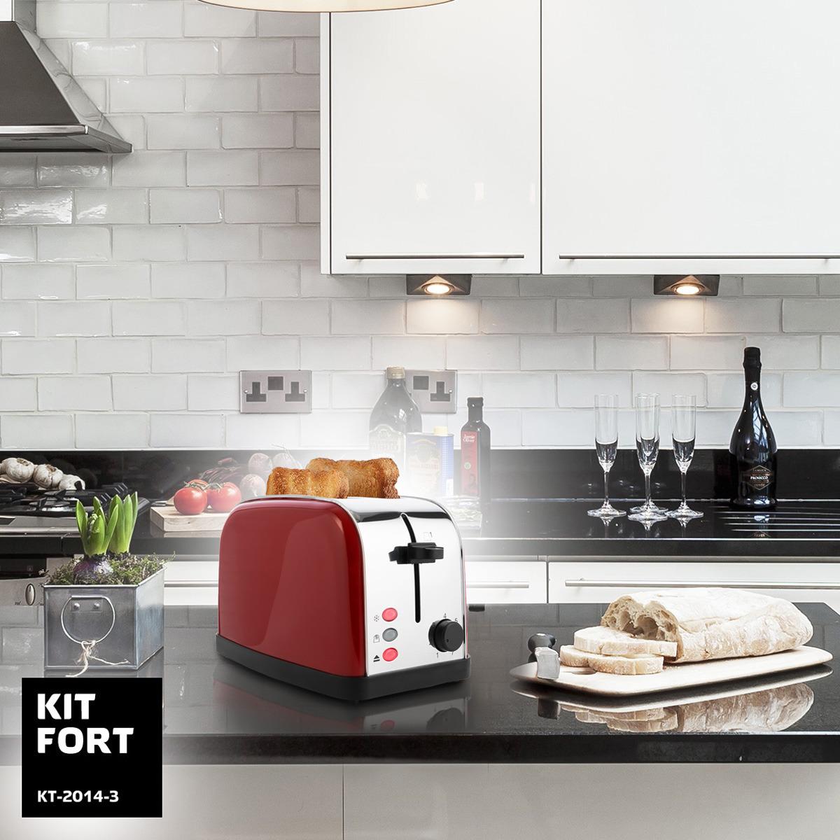 Тостер Kitfort КТ-2014-3, цвет:  красный Kitfort