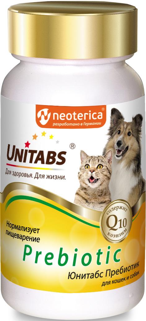 Витамины для кошек и собак Unitabs Prebiotic Пребиотик, 100 таблеток для тела массой 5 кг путь до полной остановки в зависимости от времени
