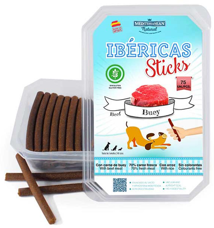 Лакомство для собак Mediterranean Ibericas Sticks, говяжьи палочки, 900 г лакомство для собак зоомарк ассорти легкое рубец малые говяжьи 45 г