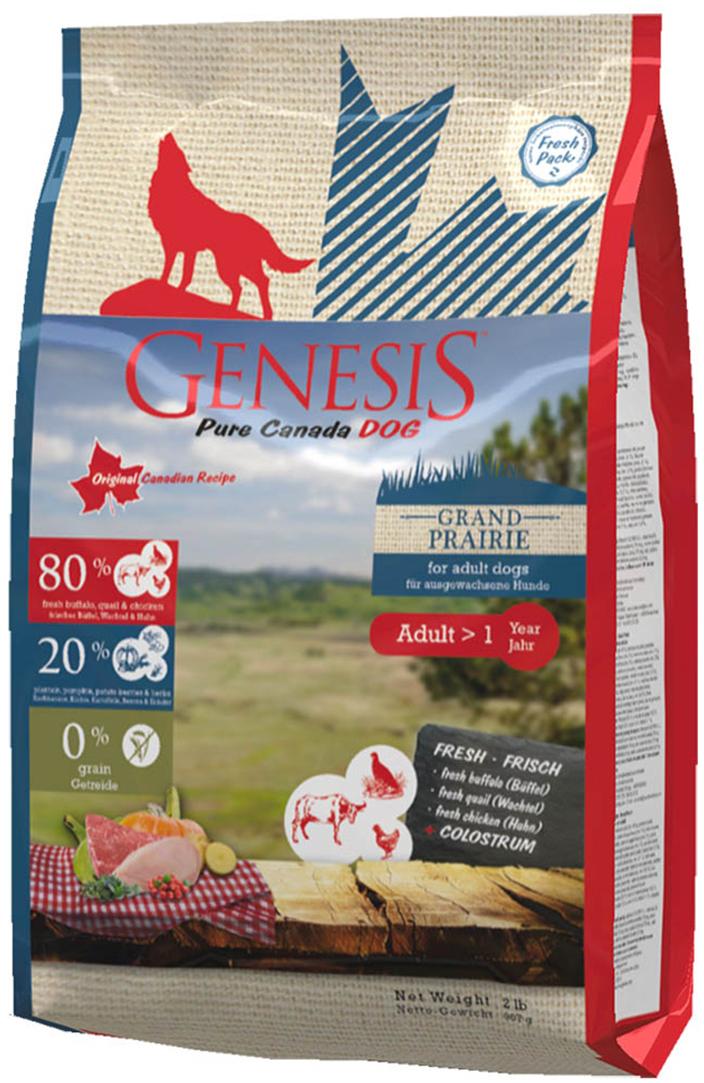 Корм сухой Genesis, для взрослых собак всех пород с чувствительным пищеварением, с курицей, буйволом и перепелками, 907 г515100907Полнорационный беззерновой сухой корм класса холистик для взрослых собак всех пород с чувствительным пищеварением с курицей, буйволом и перепелками.Ингредиенты: cвежая курица (мин. 60%), белок из мяса кур (дегидратированный, мин. 10,5%), свежее мясо буйвола (мин. 6%), картофельная мука (мин. 4%), горох (сушёный), свежее мясо перепела (мин. 2%), тыква (высушенная, мин. 2%), кормовые бананы (плантан) (сушёные, мин. 2%), нут (сушёный), чечевица (сушеная), гидролизованный протеин, семена подорожника, молозиво (мин. 0,3%), клюква (сушёная), черника (сушёная, мин. 0,1%), экстракт зеленой мидии (сушёные, мин. 0,1%), дикая крапива (сушёная), листья ежевики (сушёные), тысячелистник (сушёный), фенхель (сушёный), тмин (сушёный, мин. 0,02%), цветки ромашки (сушёные), омела (сушёная), корень горечавки (сушёный, мин. 0,02%), золототысячник обыкновенный (сушёный), порошок из цикория Питательные вещества: белок 35.00%, жир 19.00%, клетчатка 2.00%, зола 7.20%, калорийность 16.80 MJ/кг, кальций 1.40%, фосфор 1.10%, натрий 0.25%, калий 0.80%, магний 0.10% Добавки: витамин A 12,000 I. U., витамин D3 1,200 I. U., витамин E 70 мг. Микроэлементы: цинк 70 мг, медь 10 мг, йод 2 мг, селен 0.2 мг.
