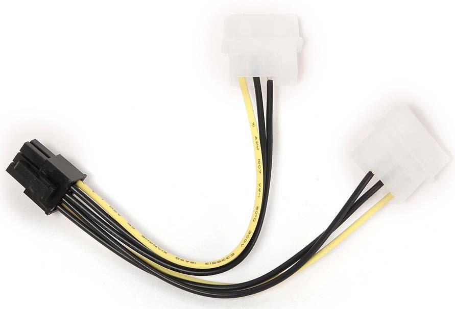 Cablexpert CC-PSU-6 разветвитель питания 2хMolex-> PCI-E 6pin (0,15 м) адаптер питания boss кабель разветвитель pcs 20a
