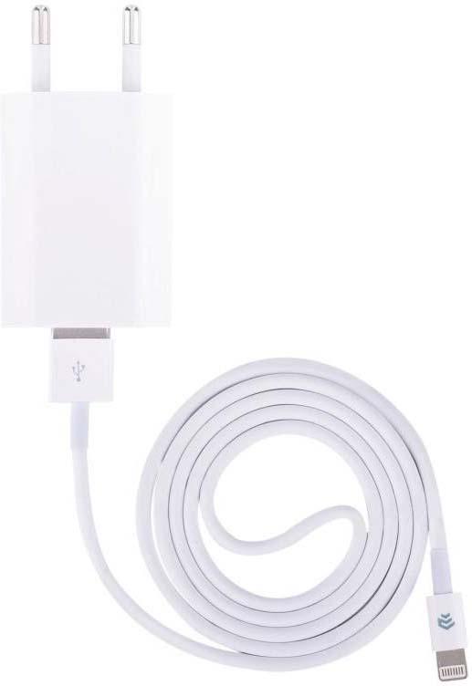 Сетевое зарядное устройство Devia Smart, кабель Apple Lightning, White сетевое зарядное устройство prime line 1a с кабелем micro usb черный
