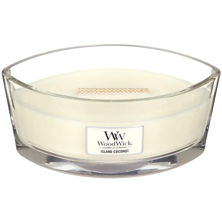 Ароматическая свеча Woodwick Кокосовый остров, эллипс ароматическая свеча woodwick гранат эллипс