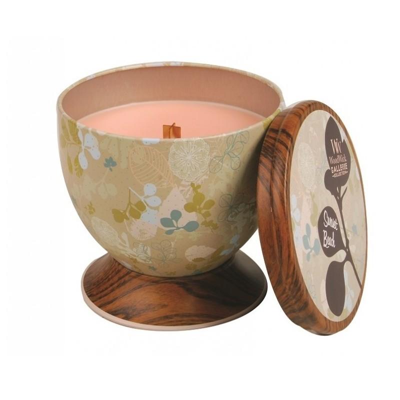 Ароматическая свеча Woodwick Закат на пляже, чаша ароматическая свеча woodwick закат на пляже чаша