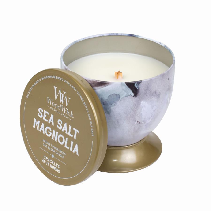 Ароматическая свеча Woodwick Магнолия и Морская соль, 77662, чаша ароматическая свеча woodwick закат на пляже чаша