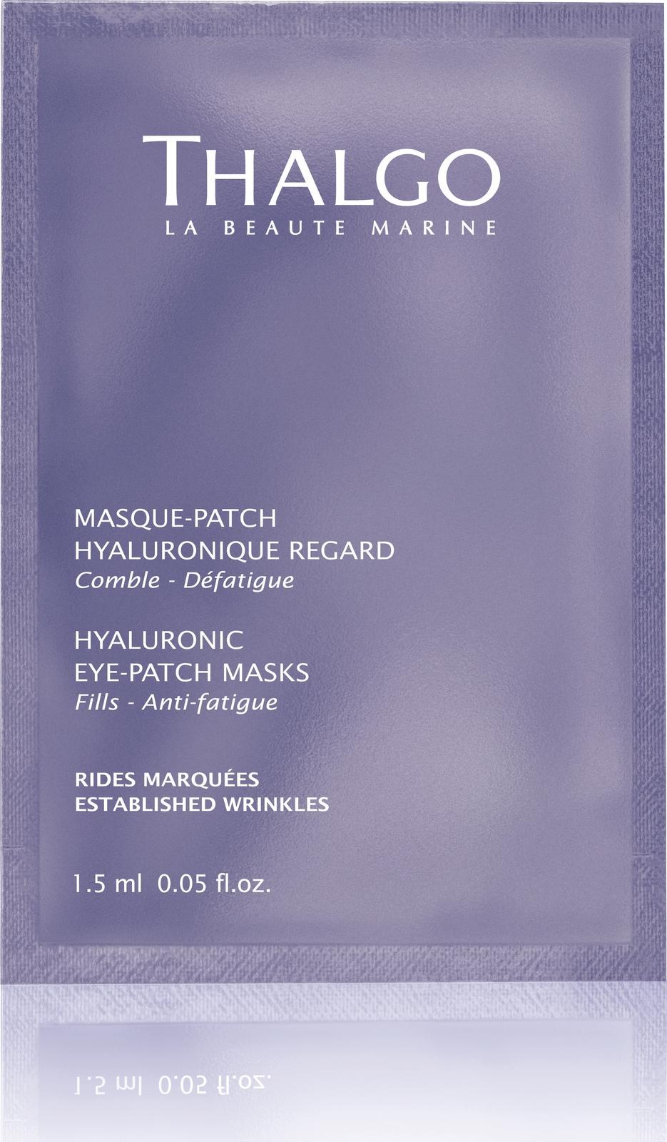Гиалуроновая маска-патч Thalgo, для кожи вокруг глаз, 8 x 2 шт роза гиалуроновая кислота anti wrinkle крем для глаз ночь эластичный против морщин удаления темных кругов тонкие линии глаз