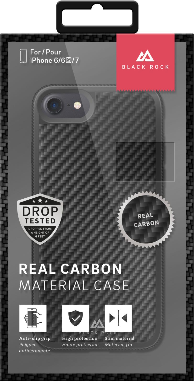 Чехол для Apple iPhone 6/6s, Apple iPhone 7, Apple iPhone 8 Material Case Real Carbon для iPhone 8 / 7 / 6/6S