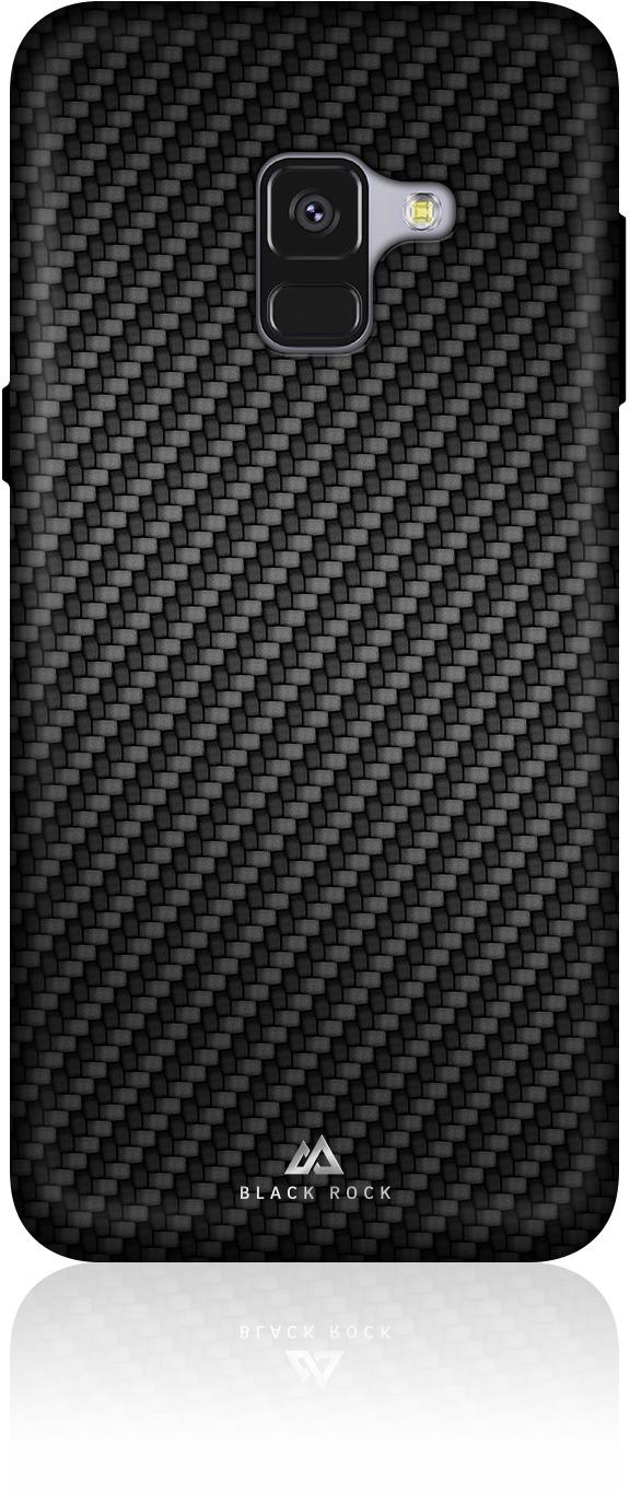 Чехол Black Rock Flex Carbon Case для Samsung Galaxy A8 (2018), цвет: черный