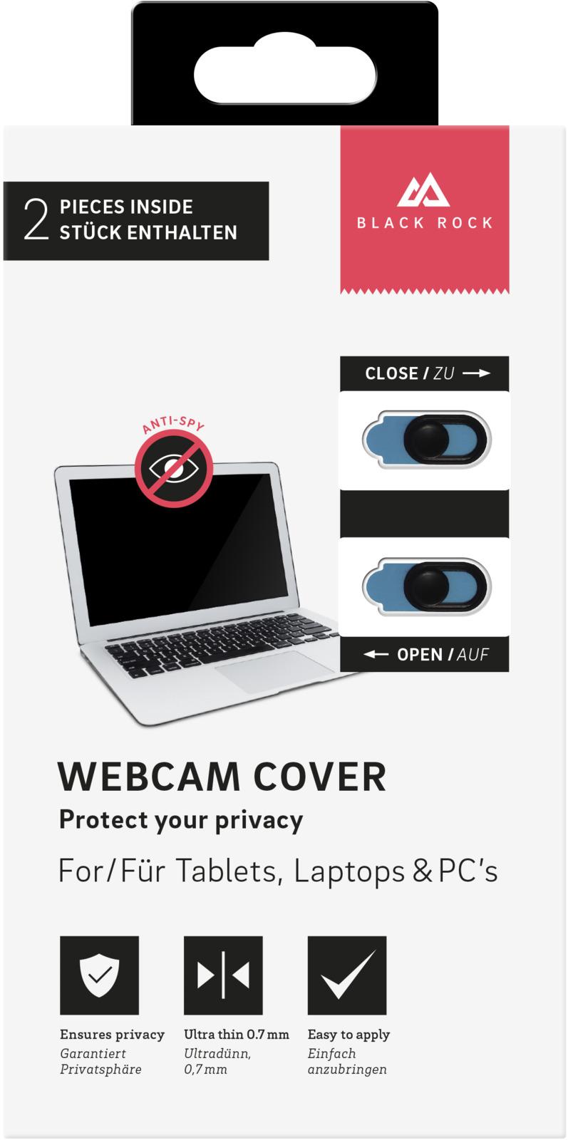 Шторка для веб камеры Black Rock, цвет: черный, 2 шт веб камеры инструкция