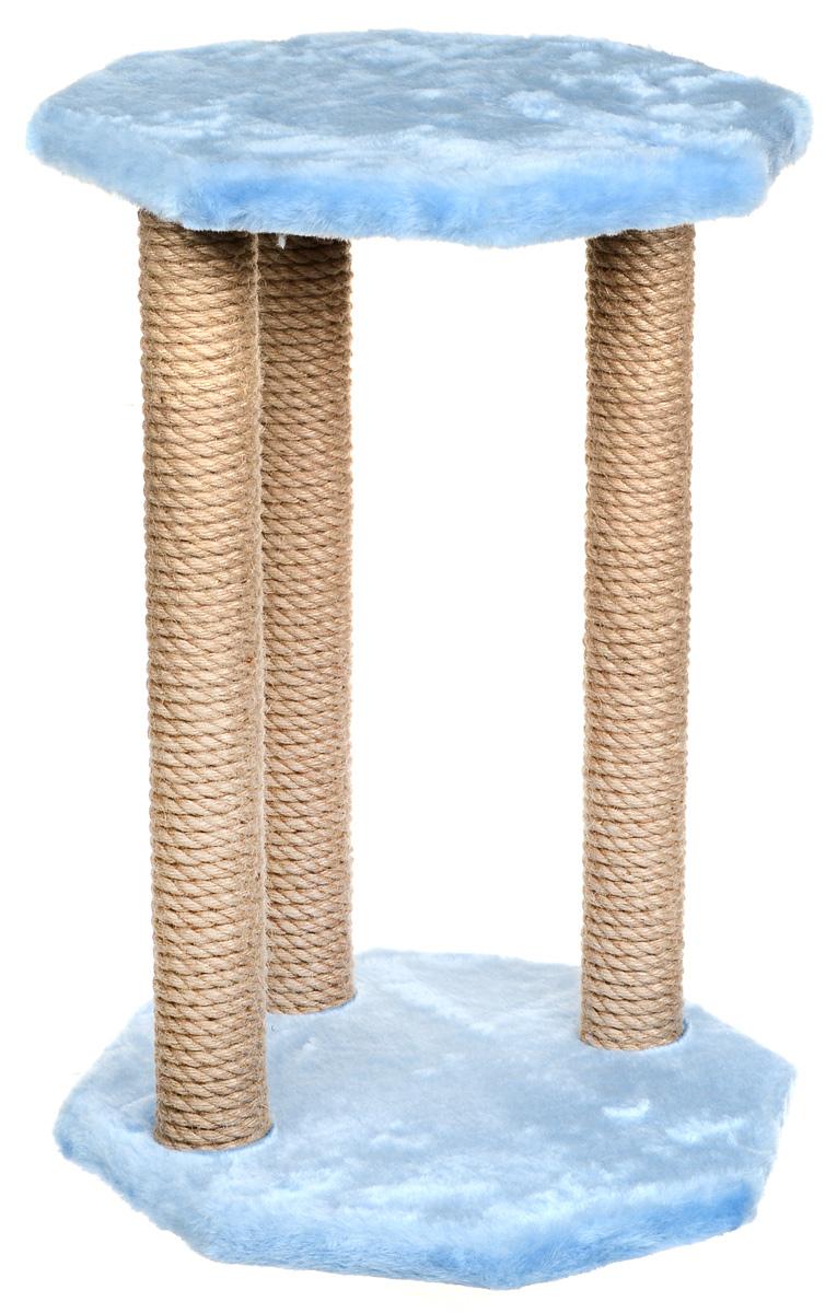 Фото - Когтеточка Велес, с игрушкой, цвет: голубой, 35 х 35 х 50 см термоковрик лакшми sun power module mini 50 х 50 см bl1354