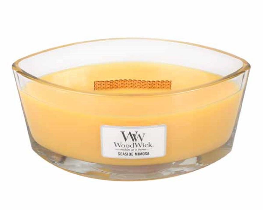 Ароматическая свеча Woodwick Прибрежная мимоза, эллипс ароматическая свеча woodwick гранат эллипс