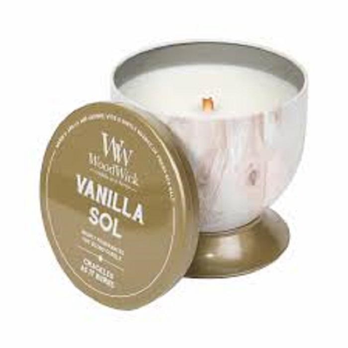 Ароматическая свеча Woodwick Ванильная соль, чаша ароматическая свеча woodwick красная смородина и kедр чаша
