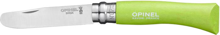 Нож складной Opinel My First Opinel, цвет: зеленый, клинок 8 см нож opinel my first opinel 07 длина клинка 8 см цвет зеленый