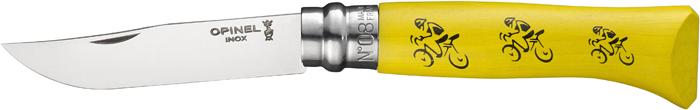 Нож складной Opinel Tradition Tour De France, цвет: желтый, клинок 8,5 см нож складной opinel my first opinel tour de france цвет желтый клинок 8 см