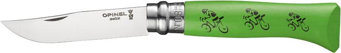 Нож складной Opinel Tradition Tour De France, цвет: зеленый, клинок 8,5 см нож складной opinel 8 см зеленый