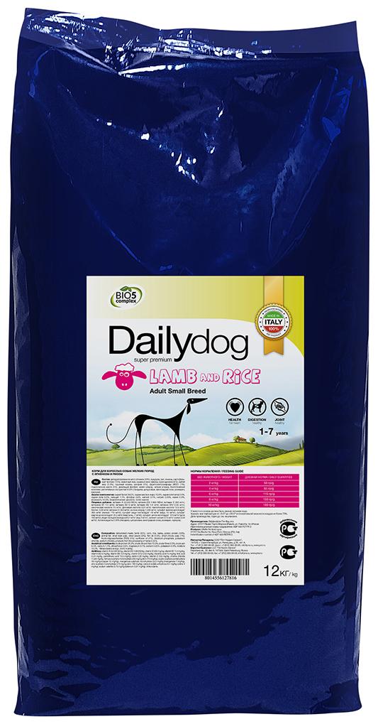 """Корм сухой Daily Dog """"Adult Small Breed Lamb and Rice"""", для взрослых собак мелких пород, с ягненком и рисом, 12 кг"""