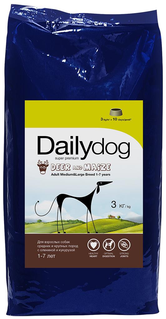 """Корм сухой Daily Dog """"Adult Medium and Large Fish Potatoes"""", для взрослых собак средних и крупных пород, с рыбой и картофелем, 3 кг"""