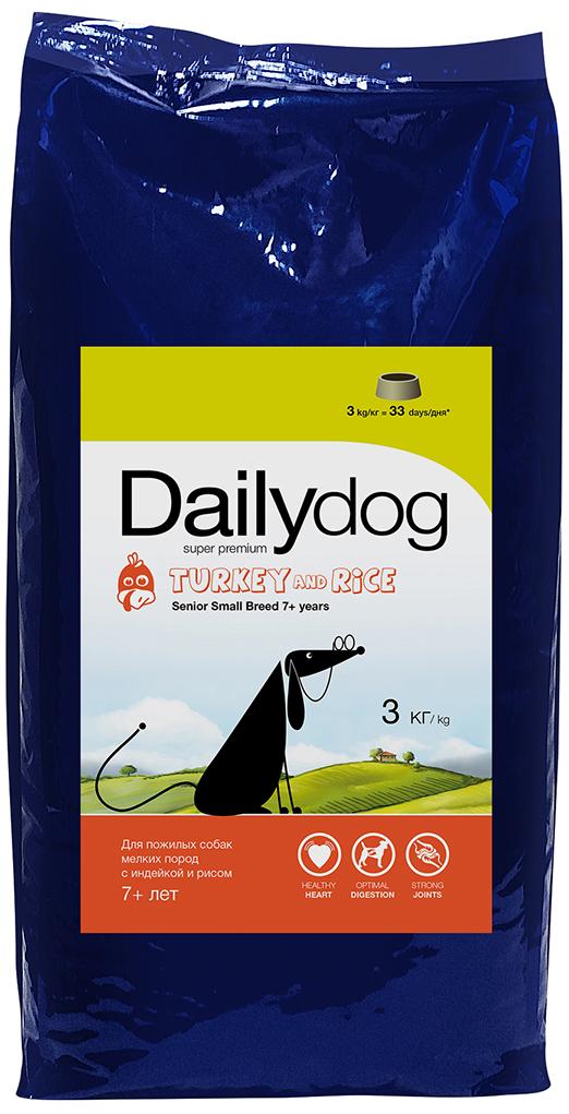 """Корм сухой Daily Dog """"Senior Small Breed Turkey and Rice"""", для пожилых собак мелких пород, с индейкой и рисом, 3 кг"""