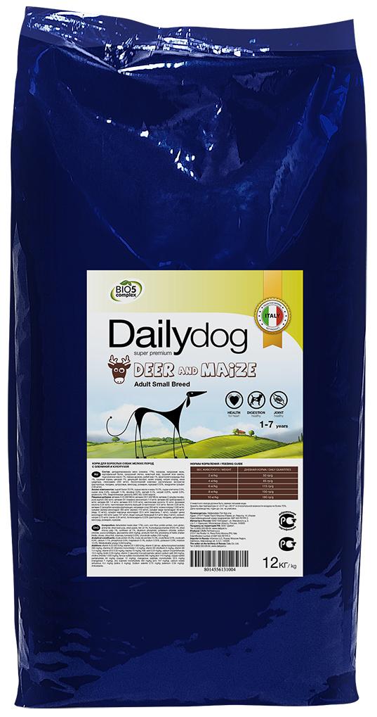 """Корм сухой Daily Dog """"Adult Small Breed Deer & Maize"""", для взрослых собак мелких пород, с олениной и кукурузой, 12 кг"""