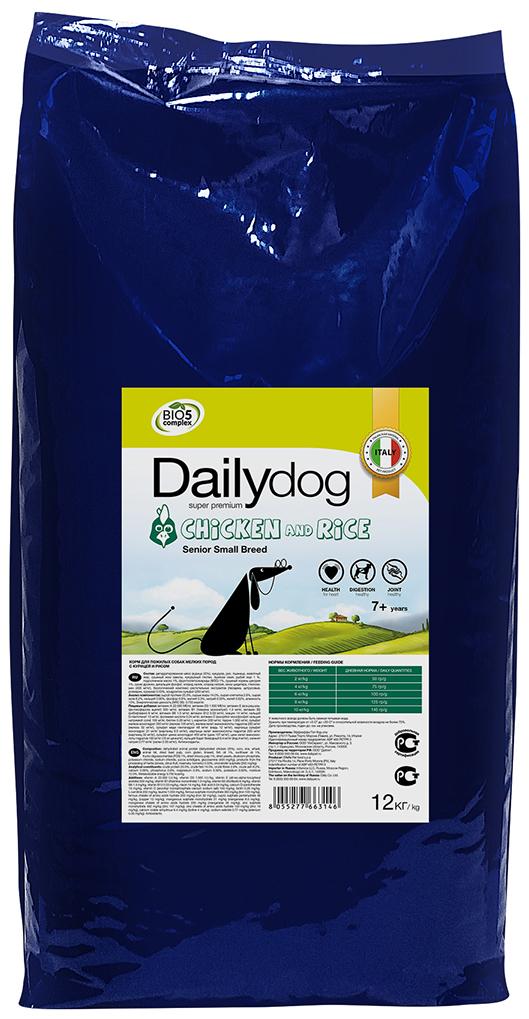 """Корм сухой Daily Dog """"Senior Small Breed Chicken and Rice"""", для пожилых собак мелких пород, с курицей и рисом, 12 кг"""