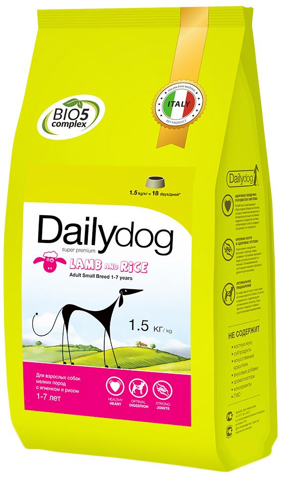 """Корм сухой Daily Dog """"Adult Small Breed Lamb & Rice"""", для взрослых собак мелких пород, с ягненком и рисом, 1,5 кг"""