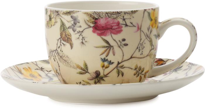 """Чашка с блюдцем для кофе Maxwell & Williams """"Летние цветы"""", 100 мл"""