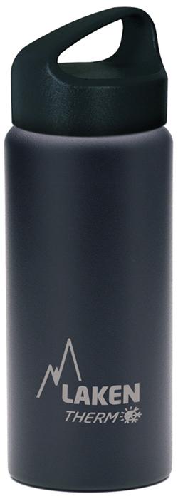 Фляга Laken Classic TA5N, цвет: черный, 500 мл