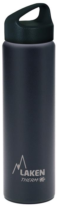 Фляга Laken Classic TA7N, цвет: черный, 750 мл