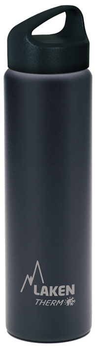 Фляга Laken Classic TA10N, цвет: черный, 1 л