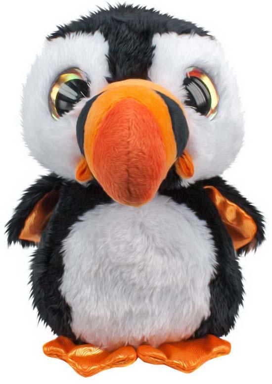 """Мягкая игрушка Lumo """"Тупик Lunni"""", цвет: черный, белый, 15 см"""