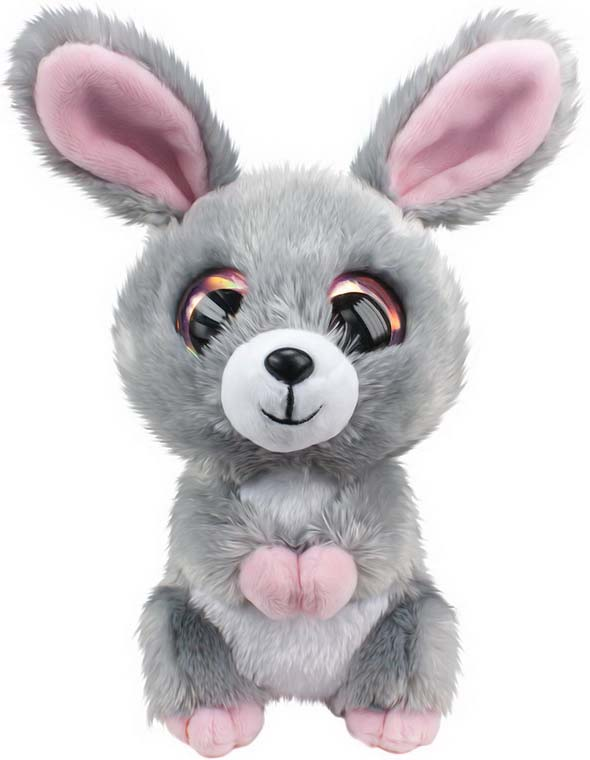 Мягкая игрушка Lumo Кролик Pupu, цвет: серый, 15 см светильник спот brilliant lumo g51229 15