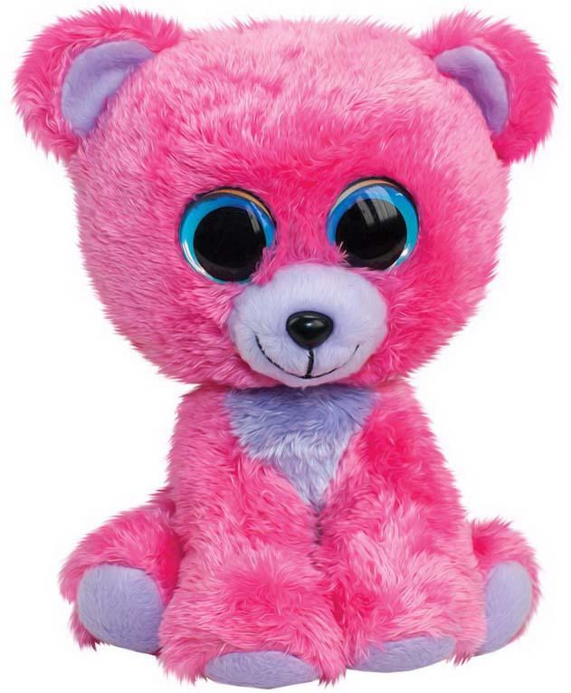 "Мягкая игрушка Lumo ""Мишка Raspberry"", цвет: розовый, 24 см"