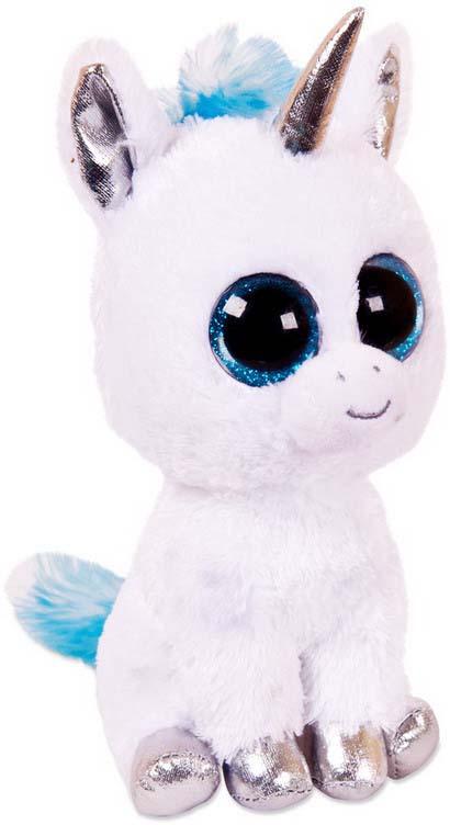 Мягкая игрушка Abtoys Единорог, цвет: белый, голубой, 14 см мягкая игрушка abtoys единорог с серебряными копытами ушками и рогом m096 белый 15 см