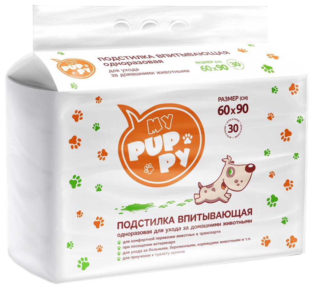 Пеленка-подстилка для животных My Puppy, 60 х 90 см, 30 шт для собак my