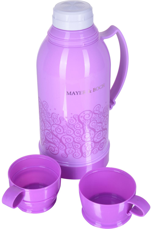 Термос Mayer & Boch, с 2 кружками, цвет: розовый, объем 1,8 л термос mayer