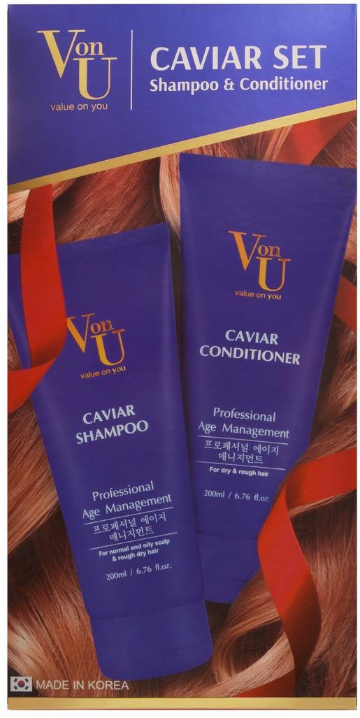 Набор Von-U Caviar : шампунь, 200 мл + кондиционер, 200 мл