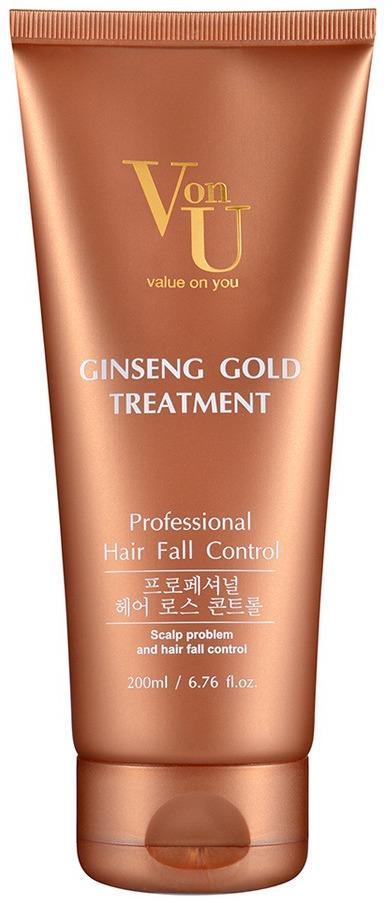 Средство для лечения волос Von-U Ginseng Gold, 200 мл von u ginseng gold лосьон для роста волос с экстрактом золотого женьшеня ginseng gold лосьон для роста волос с экстрактом золотого женьшеня