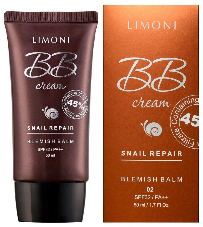 BB-крем для лица Limoni Snail Repair Blemish Balm, тон №2, 50 мл